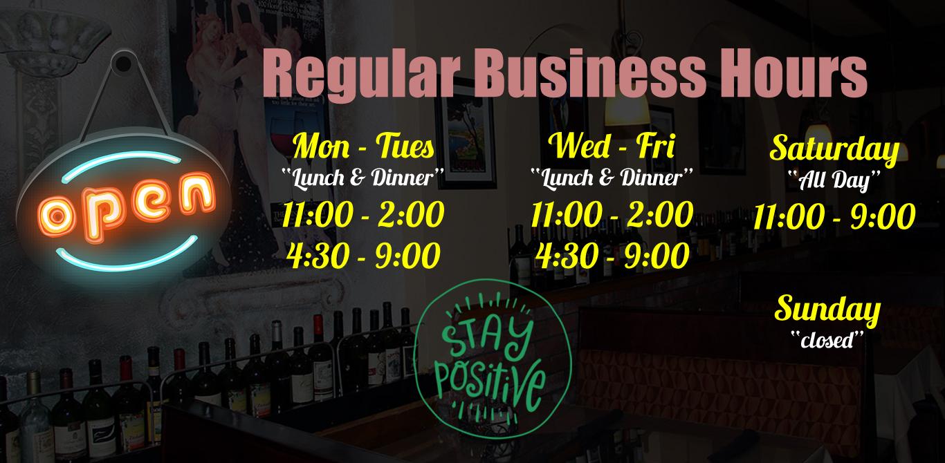 Resuming Regular Business Hours